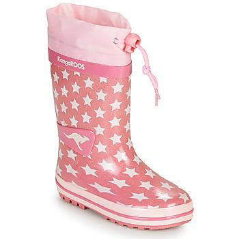 Zapatos Niña Botas de agua Kangaroos K-RAIN Rosa