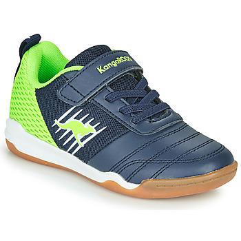 Zapatos Niño Zapatillas bajas Kangaroos SUPER COURT EV Azul / Verde