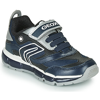 Zapatos Niño Zapatillas bajas Geox ANDROID Marino / Plateado