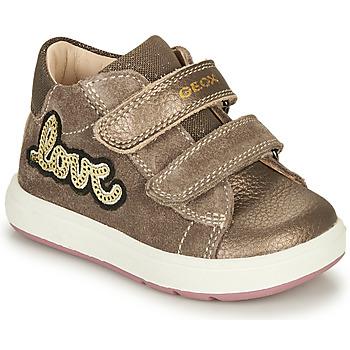 Zapatos Niña Botas de caña baja Geox BIGLIA Marrón