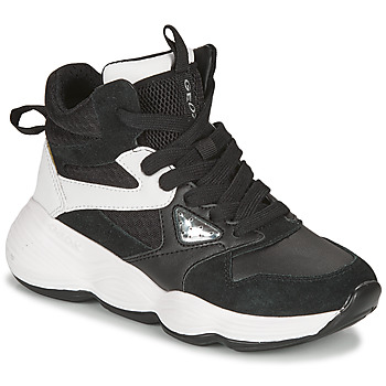 Zapatos Niña Zapatillas altas Geox BUBBLEX Negro / Blanco