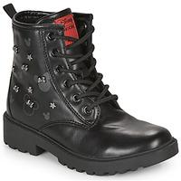 Zapatos Niña Botas de caña baja Geox CASEY Negro