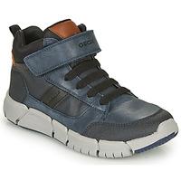 Zapatos Niño Botas de caña baja Geox FLEXYPER Marino / Negro