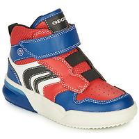 Zapatos Niño Zapatillas altas Geox GRAYJAY Rojo / Azul
