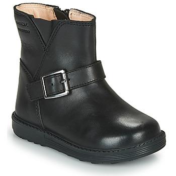 Zapatos Niña Botas urbanas Geox HYNDE WPF Negro