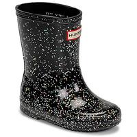 Zapatos Niña Botas de agua Hunter KIDS FIRST CLASSIC GLITTER Negro