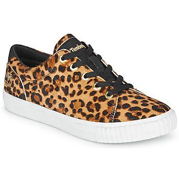 Zapatos Mujer Zapatillas bajas Timberland SKYLA BAY LEATHER OXFORD Leopardo