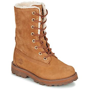 Zapatos Niños Botas de caña baja Timberland COURMA KID SHRL RT Marrón