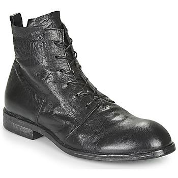 Zapatos Hombre Botas de caña baja Moma PUNTO Negro