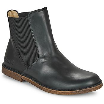 Zapatos Mujer Botas de caña baja Kickers TINTO Negro