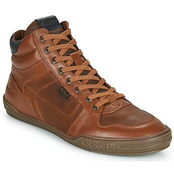 Zapatos Hombre Zapatillas altas Kickers JEXPLOREHIGH Marrón