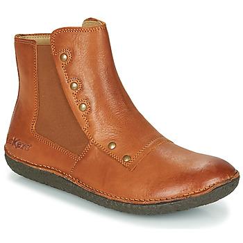 Zapatos Mujer Botas de caña baja Kickers HAPPLI Marrón
