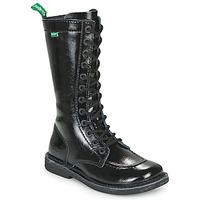 Zapatos Mujer Botas urbanas Kickers MEETKIKNEW Negro / Barniz