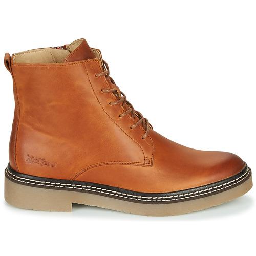 Kickers Oxigeno Camel / Naranja - Envío Gratis Zapatos Botas De Caña Baja Mujer 139