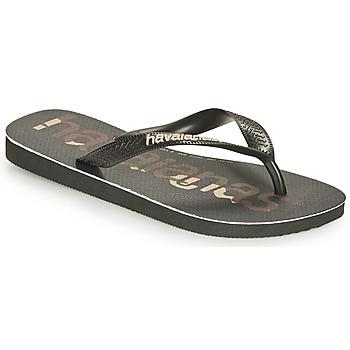 Zapatos Chanclas Havaianas Top Logomania Negro