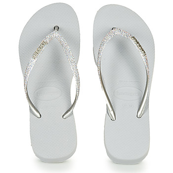 Zapatos Mujer Chanclas Havaianas Slim Flatform Glitter Plateado