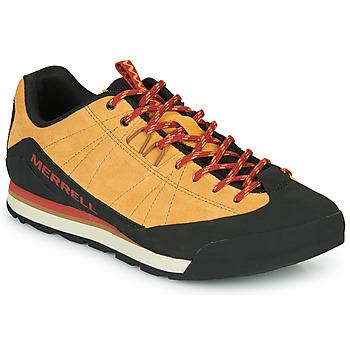 Zapatos Hombre Zapatillas bajas Merrell CATALYST SUEDE Camel / Negro