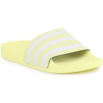 Zapatos Mujer Chanclas adidas Originals Adilette W Blanco,Amarillos