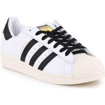 Zapatos Hombre Zapatillas bajas adidas Originals Superstar Laceless Blanco,Negros