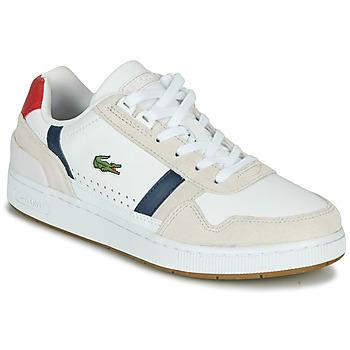 Zapatos Mujer Zapatillas bajas Lacoste T-CLIP 0120 2 SFA Blanco / Marino / Rojo