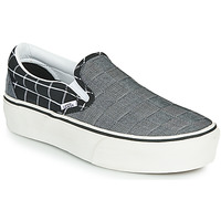 Zapatos Mujer Slip on Vans CLASSIC SLIP-ON PLATFORM Gris