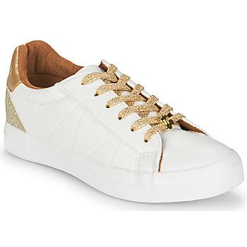 Zapatos Mujer Zapatillas bajas Le Temps des Cerises VIC Blanco / Oro
