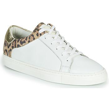 Zapatos Mujer Zapatillas bajas Les Tropéziennes par M Belarbi LOUANE Blanco / Leopardo