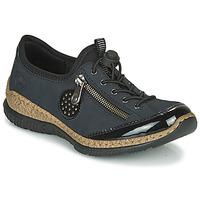 Zapatos Mujer Derbie Rieker N3268-01 Azul / Negro
