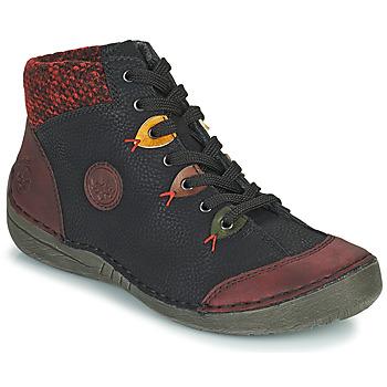 Zapatos Mujer Botas de caña baja Rieker 52513-36 Negro / Burdeo
