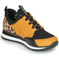 Zapatos Mujer Zapatillas bajas Rieker TENUA Cognac / Negro