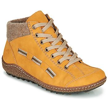 Zapatos Mujer Botas de caña baja Rieker  Amarillo