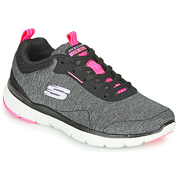 Zapatos Mujer Fitness / Training Skechers FLEX APPEAL 3.0 Gris / Negro / Rosa