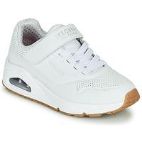 Zapatos Niños Zapatillas bajas Skechers UNO Blanco