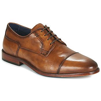 Zapatos Hombre Derbie Azzaro TILLEUL Cognac