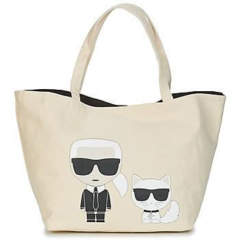 Bolsos Mujer Bolso shopping Karl Lagerfeld K/IKONIK KARL & CHOUPETTE TOTE Negro