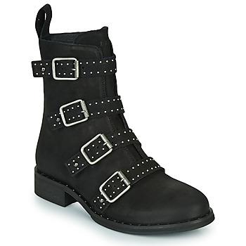 Zapatos Mujer Botas de caña baja Ikks URBAN RANGERS Negro