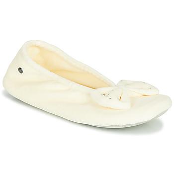 Zapatos Mujer Pantuflas Isotoner 95991 Marfil