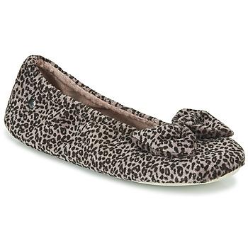 Zapatos Mujer Pantuflas Isotoner 97209 Leopardo