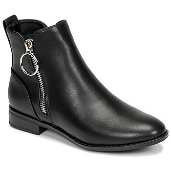 Zapatos Mujer Botas de caña baja Only BOBBY 22 PU ZIP BOOT Negro