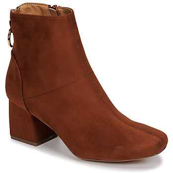 Zapatos Mujer Botines Only BILLIE-1 LIFE MF HEELED BOOT Cognac