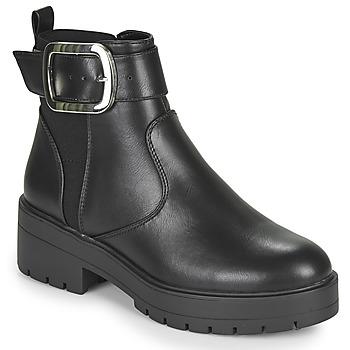 Zapatos Mujer Botas de caña baja Only BRANKA-5 PU BUCKLE BOOT Negro