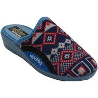 Zapatos Mujer Pantuflas Nevada Zapatilla mujer abierta detrás simulando azul