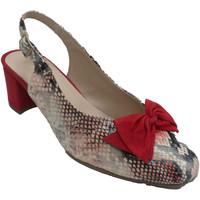 Zapatos Mujer Zapatos de tacón Roldán Zapato mujer abierto detrás estampado se rojo