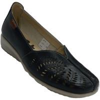 Zapatos Mujer Mocasín 48 Horas Zapato descanso mujer cerrado calado azul