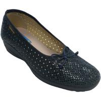 Zapatos Mujer Pantuflas Made In Spain 1940 Zapatilla mujer calado tipo manoletinas azul