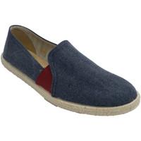 Zapatos Hombre Pantuflas Calzamur Zapatillas hombre con elásticos en rojo azul