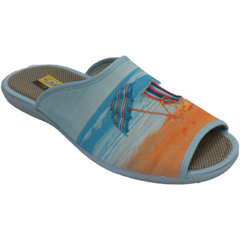 Zapatos Mujer Pantuflas Aguas Nuevas Chanclas mujer abiertas punta talón tumb beige