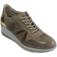 Zapatos Mujer Zapatillas bajas Pitillosms Zapato deportivo mujer con cuña piel vue beige