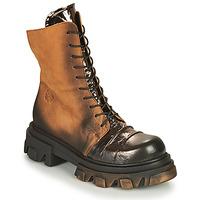 Zapatos Mujer Botas de caña baja Papucei NURIA Marrón / Negro