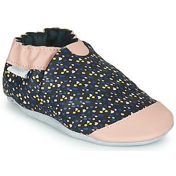 Zapatos Niña Pantuflas Robeez RAINY LOVE Negro / Rosa